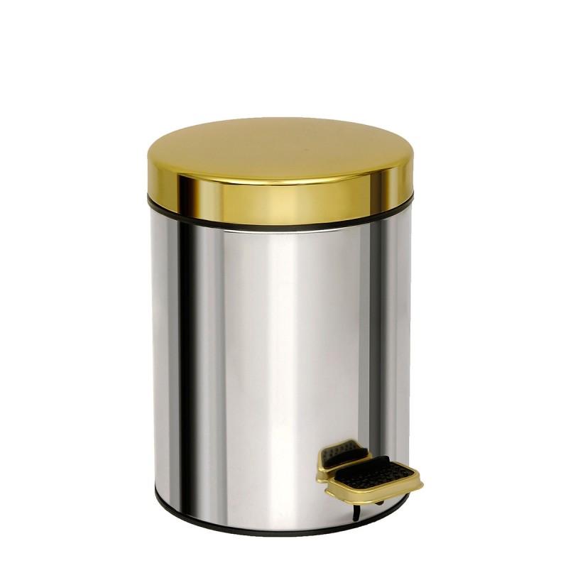 Καλάθι Απορριμμάτων Chrome-Gold 3lt Pam & Co 18×25εκ. 03-602-001 (Χρώμα: Χρυσό , Υλικό: Χάλυβας ) – Pam & Co – 03-602-001
