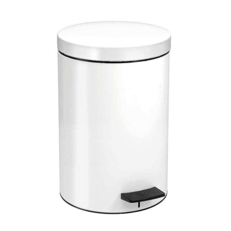 Κάδος Απορριμμάτων Matte White 12lt Pam & Co 25×40εκ. 12-090-033 (Χρώμα: Λευκό, Υλικό: Χάλυβας ) – Pam & Co – 12-090-033