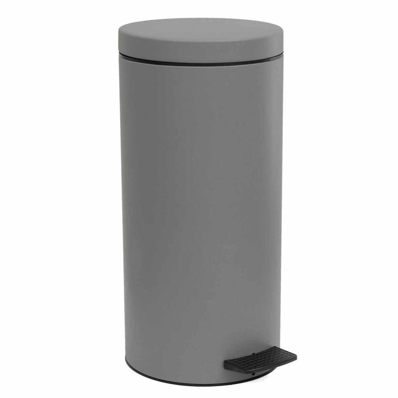 Κάδος Απορριμμάτων Matte Concrete Grey 18lt Pam & Co 25×53εκ. 18-045-163 (Χρώμα: Γκρι, Υλικό: Χάλυβας ) – Pam & Co – 18-045-163