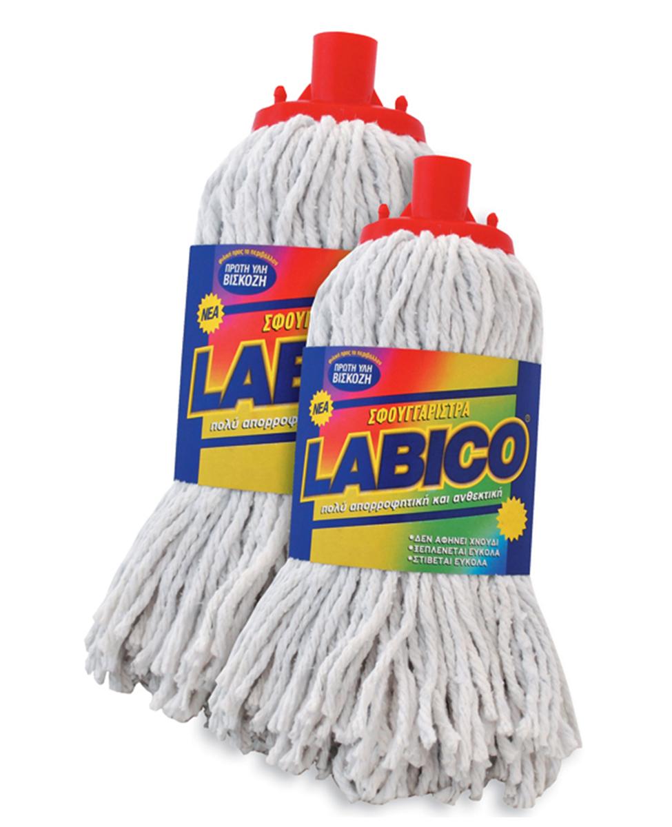 Σφουγγαρίστρα LABICO νημάτινη λευκή γίγας – LABICO – RS_00.26.24.ΚΑΣΥ/4
