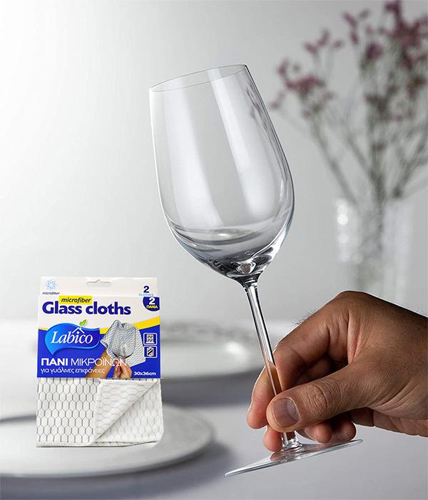 Σετ Πανί 2τμχ Microfiber Γυαλίσματος Ποτηριών LABICO – OEM – RS_02531.31.GLASS