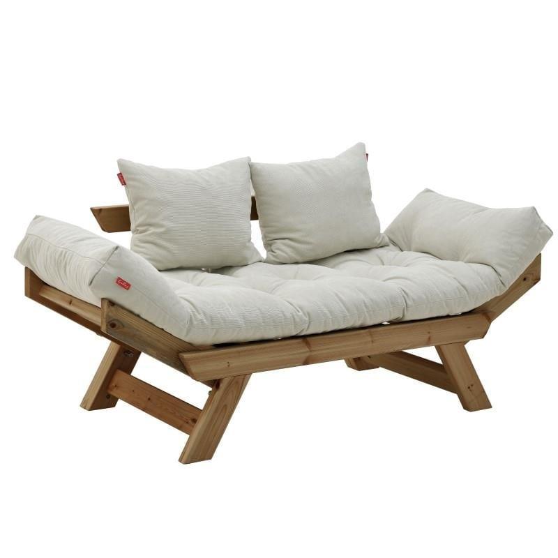 Καναπές διθέσιος Ξύλινος-Υφασμάτινος inart 160x80x70εκ. 6-50-881-0004 (Υλικό: Ξύλο, Χρώμα: Καφέ) – inart – 6-50-881-0004