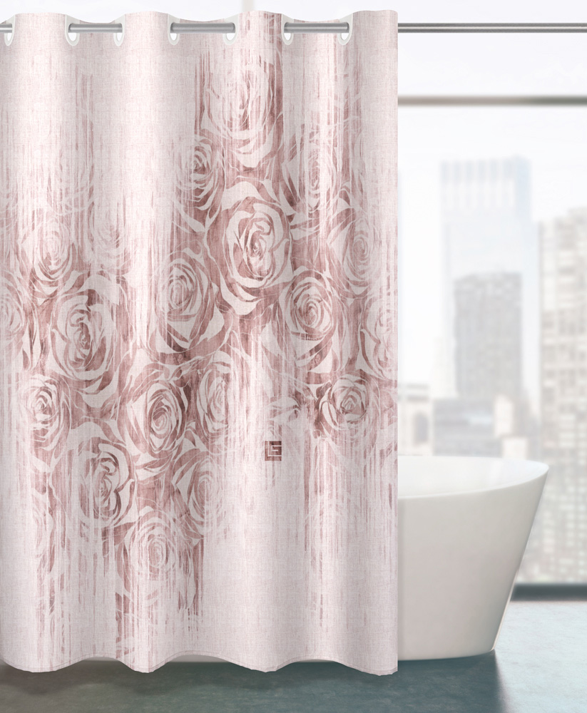 Κουρτίνα Μπάνιου 180×190εκ. Polyester Beatrice Pudra Guy Laroche (Ύφασμα: Polyester) – Guy Laroche – 1128030121003