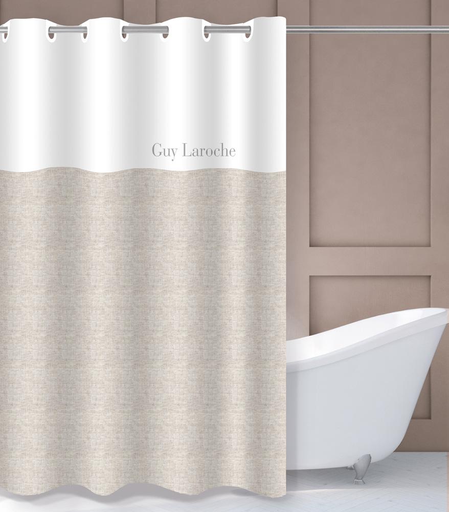 Κουρτίνα Μπάνιου Polyester Αδιάβροχη 180×190εκ. Finesse Natural Guy Laroche (Ύφασμα: Polyester) – Guy Laroche – 1128030121007