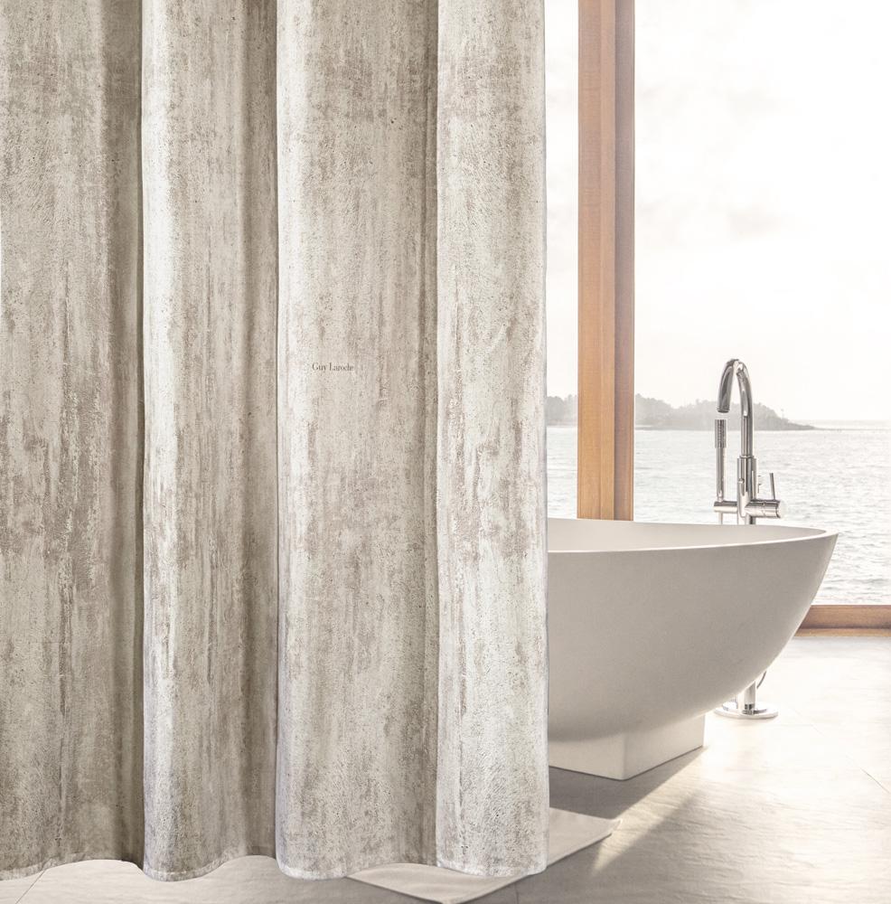 Κουρτίνα Μπάνιου 180×190εκ. Polyester Wall Rust Guy Laroche (Ύφασμα: Polyester) – Guy Laroche – 1128030216004