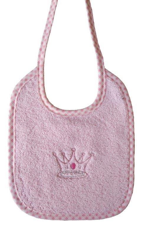 Σαλιάρα Με Κέντημα Βαμβακερή 19×24εκ. Princess 35 Pink Dimcol (Ύφασμα: Βαμβάκι 100%, Χρώμα: Ροζ) – DimCol – 1213617401503526