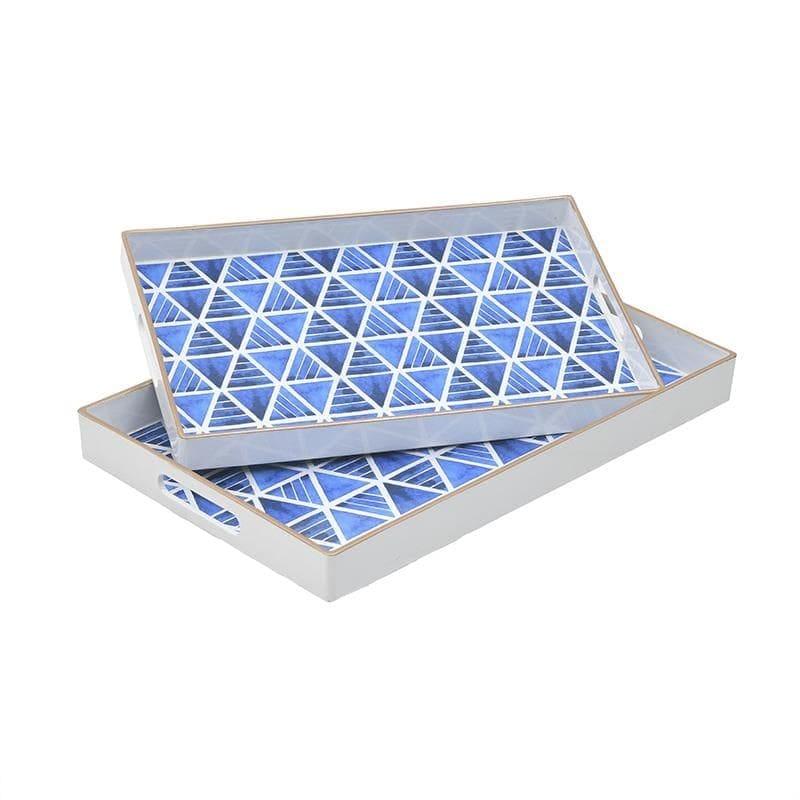 Δίσκος Σερβιρίσματος Σετ 2τμχ Πλαστικός Μπλε inart 46x30x4εκ. 3-70-973-0012 (Υλικό: Πλαστικό, Χρώμα: Μπλε) – inart – 3-70-973-0012