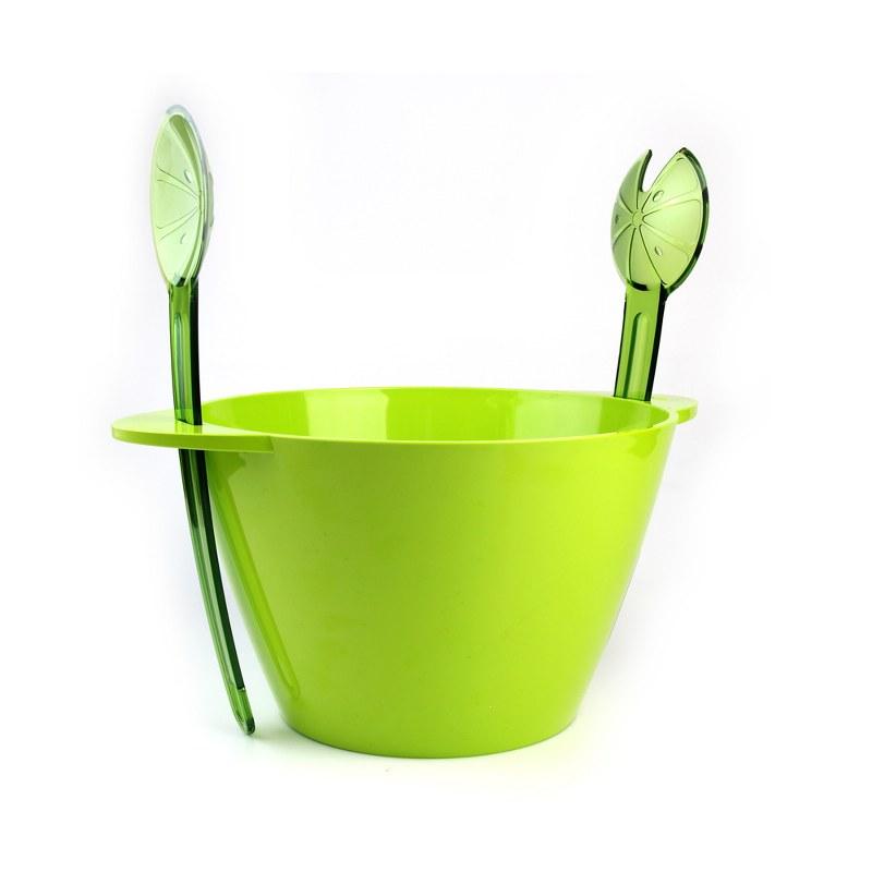Μπωλ Σερβιρίσματος Σετ 3τμχ Με Κουτάλες Πράσινο – VELTIHOME – 21-16139-green
