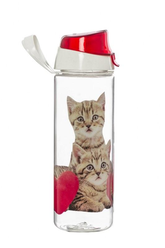 Μπουκάλι Νερού Πλαστικό 750cc Γατούλα - VELTIHOME - 21-16150-cat ειδη οικ  χρησησ είδη οικ  εξοπλισμού