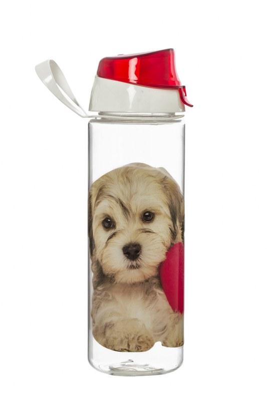 Μπουκάλι Νερού Πλαστικό 750cc Σκυλάκι – VELTIHOME – 21-16150-dog