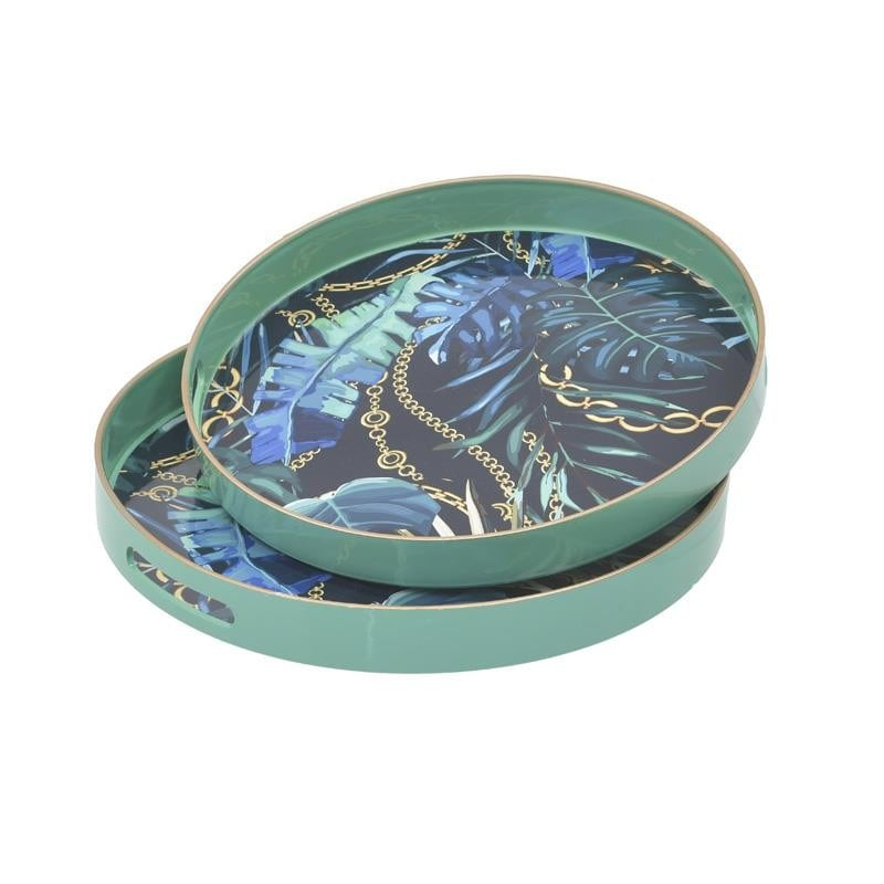 Δίσκος Σερβιρίσματος Σετ 2τμχ Tropical Πλαστικός inart 37x37x4εκ. 3-70-973-0014 (Υλικό: Πλαστικό) – inart – 3-70-973-0014