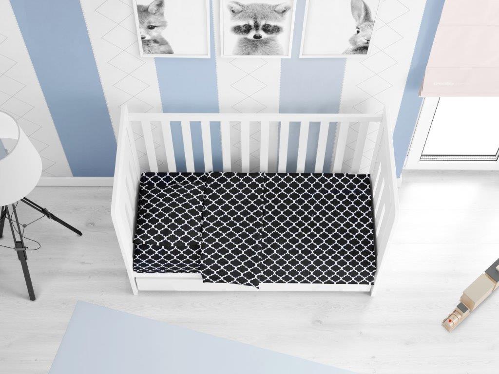 Παπλωματοθήκη Βαμβακερή Κούνιας 120×160εκ. Windows 175 Dark Blue-White DIMcol (Ύφασμα: Βαμβάκι 100%, Χρώμα: Λευκό) – DimCol – 1915717610017500