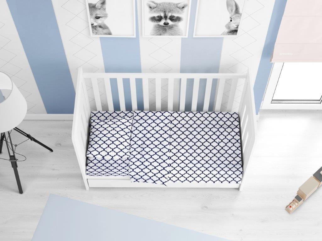 Πάπλωμα Βαμβακερό Κούνιας 120×160εκ. Windows 176 White-Dark Blue DIMcol (Ύφασμα: Βαμβάκι 100%, Χρώμα: Λευκό) – DimCol – 1915917610017600