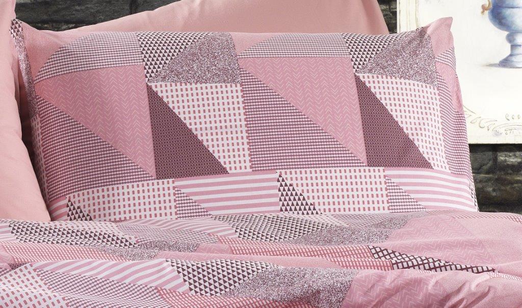 Μαξιλαροθήκη Φανελένια 50×70εκ. Εμπριμέ Geometrical 331 Pink-Salmon Dimcol (Ύφασμα: Φανέλα, Χρώμα: Ροζ) – DimCol – 1935853141633168