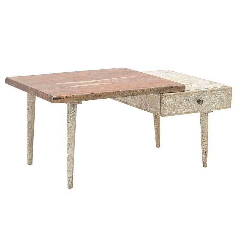 Τραπέζι Ξύλινο inart 100x60x45εκ. 7-50-053-0004 (Υλικό: Ξύλο, Χρώμα: Καφέ) – inart – 7-50-053-0004