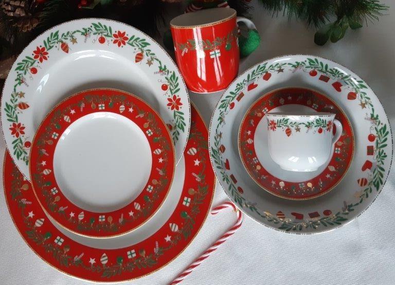 Σετ 6τμχ Πιάτα Φρούτου Χριστουγεννιάτικα Πορσελάνης Bavaria ...