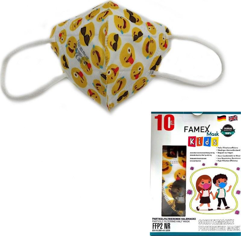 Μάσκα Προστασίας Παιδική Σετ 10τμχ Famex NR Emotion – OEM – ffp2-kids-emotion