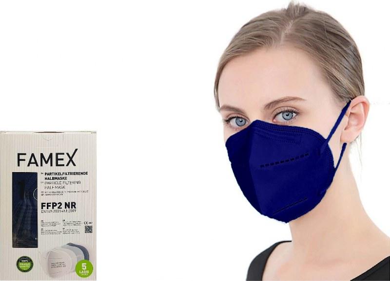 Μάσκα Προστασίας Ενηλίκων Σετ 10τμχ Famex Protective NR FFP2 Μπλε (Χρώμα: Μπλε) – OEM – ffp2-adult-blue