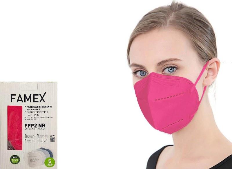 Μάσκα Προστασίας Ενηλίκων Σετ 10τμχ Famex Protective NR FFP2 Ροζ (Χρώμα: Ροζ) – OEM – ffp2-adult-pink
