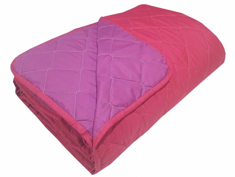 Κουβερλί 2 Όψεων Microfiber Υπέρδιπλο 220x240εκ. Komvos Home Fuchsia-Purple 7000863-21 (Ύφασμα: Microfiber, Χρώμα: Φούξια) - KOMVOS HOME - 7000863-21