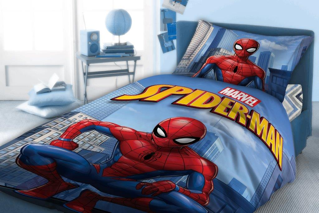 Σετ Παπλωματοθήκη Βαμβακερή Μονή 160×240εκ. Spiderman 810 Digital Print Disney Dimcol (Ύφασμα: Βαμβάκι 100%) – Disney – 2121615205281099