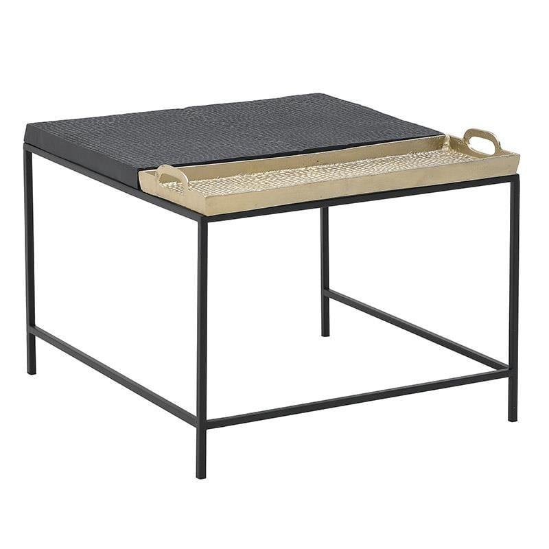 Τραπέζι Με Δίσκο Μεταλλικό inart 62x62x44εκ. 3-50-983-0005 (Υλικό: Μεταλλικό, Χρώμα: Μαύρο) – inart – 3-50-983-0005