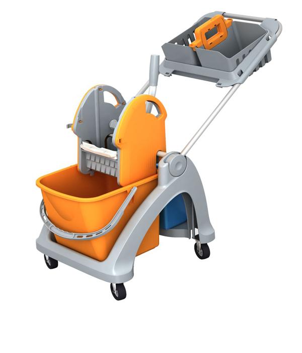 Επαγγελματικό καρότσι μονό με βάση και καλαθάκι καμαριέρας - OEM - RS_2853601KAL επαγγελματικοσ εξοπλ   είδη επαγγελματικού καθαρισμού επαγγελματικά καρότσια καθ