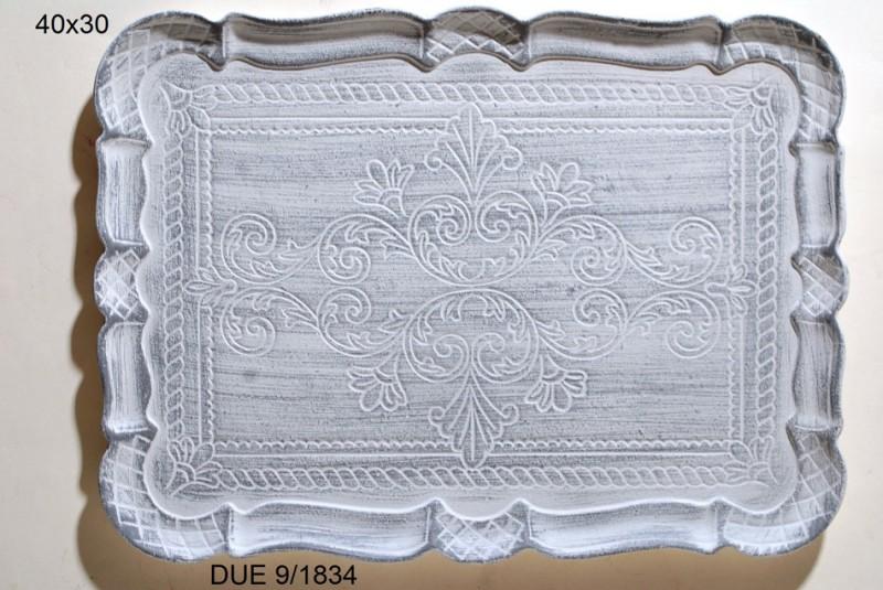 Δiσκος Σερβιρίσματος Ξύλινος Royal Art 40×30εκ. DUE9/1834 (Υλικό: Ξύλο, Χρώμα: Γκρι) – Royal Art Collection – AG_DUE9/1834-v-1