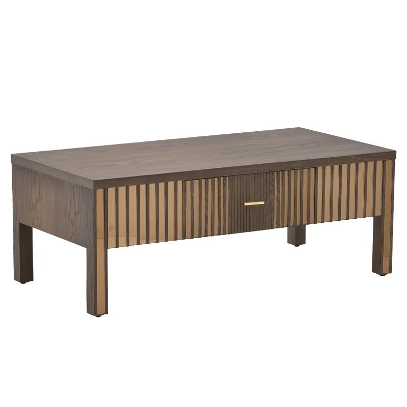 Τραπέζι Σαλονιού Ξύλινο Με Καθρέπτη Μπεζ inart 120x60x45εκ. 3-50-280-0016 (Υλικό: Ξύλο, Χρώμα: Μπεζ) – inart – 3-50-280-0016