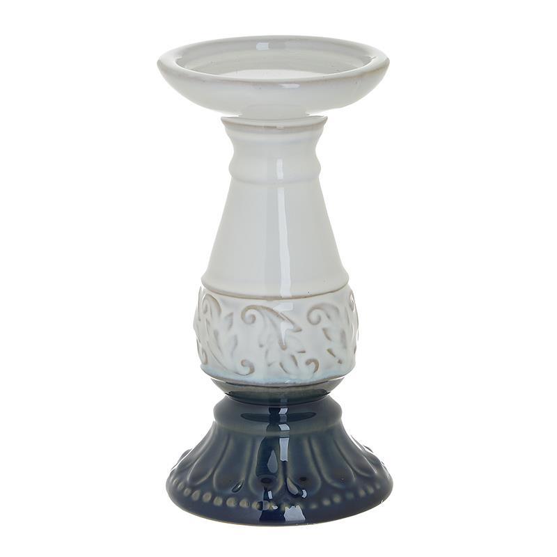 Κηροπήγιο Κεραμικό inart 10x20εκ. 3-70-105-0786 (Υλικό: Κεραμικό, Χρώμα: Λευκό) - inart - 3-70-105-0786