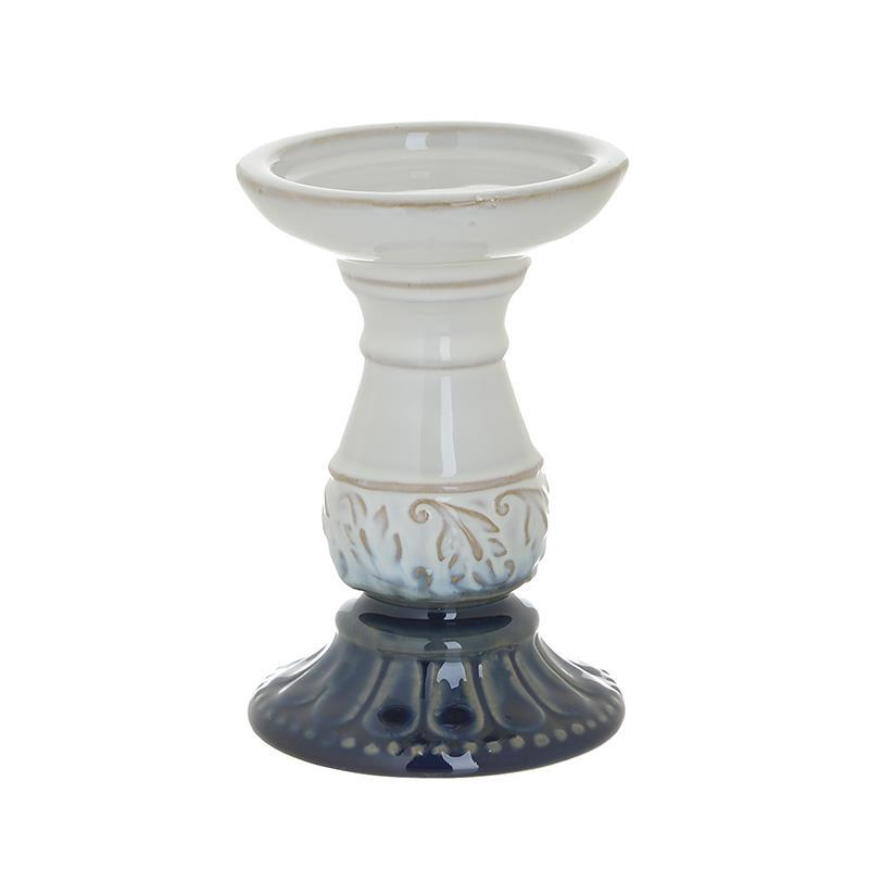 Κηροπήγιο Κεραμικό inart 9x15εκ. 3-70-105-0787 (Υλικό: Κεραμικό, Χρώμα: Λευκό) - inart - 3-70-105-0787
