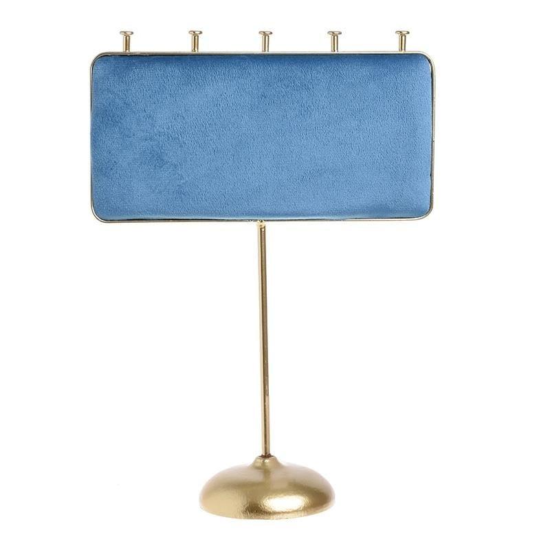 Μπιζουτιέρα Μεταλλική-Βελούδινη inart 20x8x27εκ. 3-70-839-0380 (Υλικό: Μεταλλικό, Ύφασμα: Βελούδο, Χρώμα: Μπλε) – inart – 3-70-839-0380-1