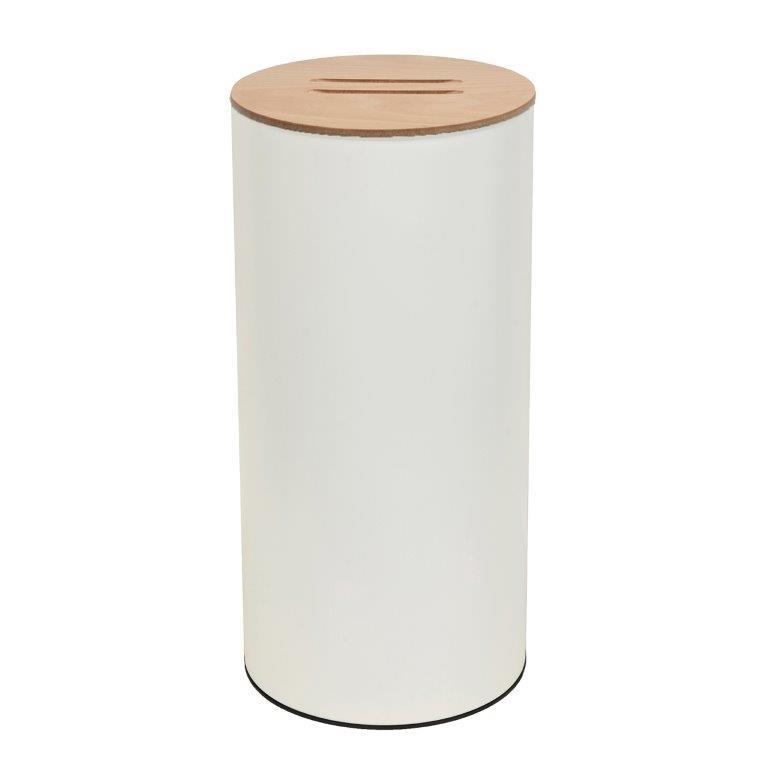 Καλάθι Απλύτων Inox 25x57εκ. Pam & Co 31-2557-033 (Χρώμα: Λευκό, Υλικό: Inox) - Pam & Co - 31-2557-033