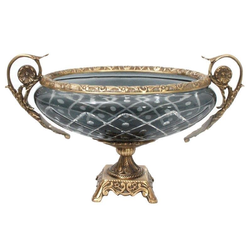 Διακοσμητικό Μπωλ Μεταλλικό-Γυάλινο Χρυσό-Γκρι inart 39x20x24εκ. 3-70-124-0045 (Υλικό: Μεταλλικό, Χρώμα: Γκρι) – inart – 3-70-124-0045