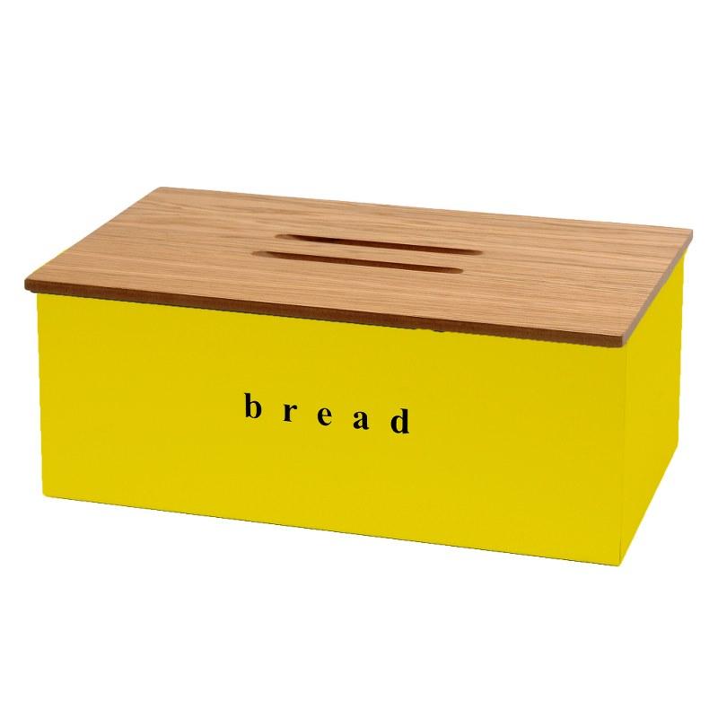 Ψωμιέρα Inox-Ξύλινη 40x22x18εκ. Pam & Co 402218-603 (Υλικό: Ξύλο, Χρώμα: Κίτρινο ) – Pam & Co – 402218-603