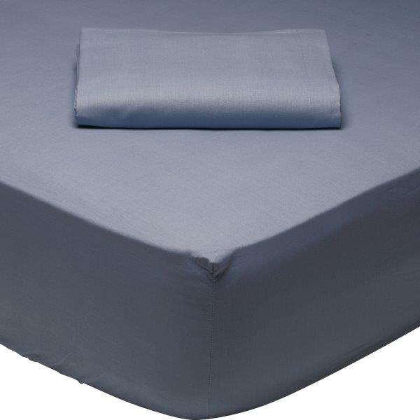 Σεντόνι Μεμονωμένο Υπέρδιπλο 170×200+35εκ. Με Λάστιχο Μπλε Das Home 1006 – Das Home – 1006-sent2-fitted