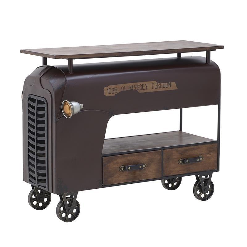 Τραπέζι Vintage Μεταλλικό-Ξύλινο 110x60x90εκ. inart 3-50-479-0076 (Υλικό: Ξύλο, Χρώμα: Καφέ) – inart – 3-50-479-0076