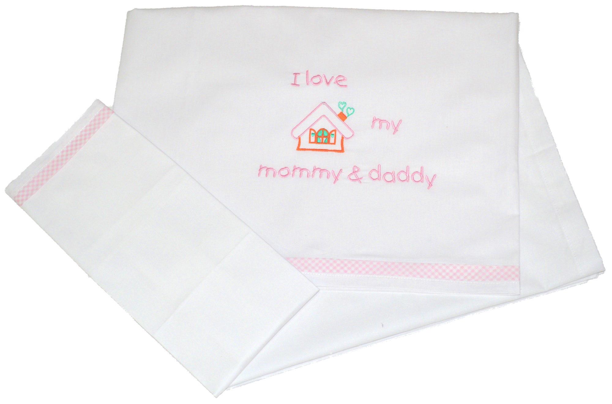 Σετ Σεντόνια Μπεμπέ 100x160εκ. Love 0202 Pink - Ο Κόσμος του Μωρού - 16-0202-lov λευκα ειδη παιδί σεντόνια μπεμπέ