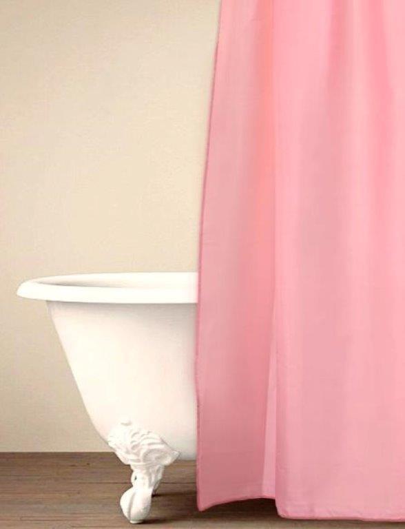 Κουρτίνα Μπάνιου Palamaiki Simple Pink 180×240εκ. (Ύφασμα: Polyester) – Palamaiki – 5205857181390