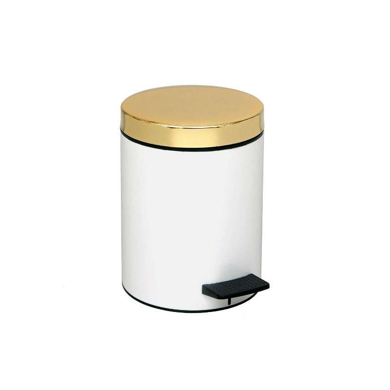 Καλάθι Απορριμμάτων White-Gold 5lt Pam & Co 20×28εκ. 05-106-003 (Χρώμα: Λευκό, Υλικό: Χάλυβας ) – Pam & Co – 05-106-003
