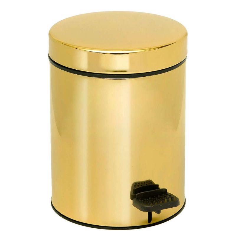 Καλάθι Απορριμμάτων Gold 3lt Pam & Co 18×25εκ. 03-607-024 (Χρώμα: Χρυσό , Υλικό: Ορείχαλκος) – Pam & Co – 03-607-024