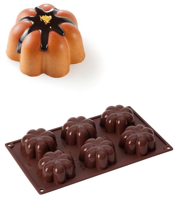 Φόρμα σιλικόνης 6 θέσεων CHARLOTTE - OEM - RS_56513.00.77 κουζινα είδη ζαχαροπλαστικής