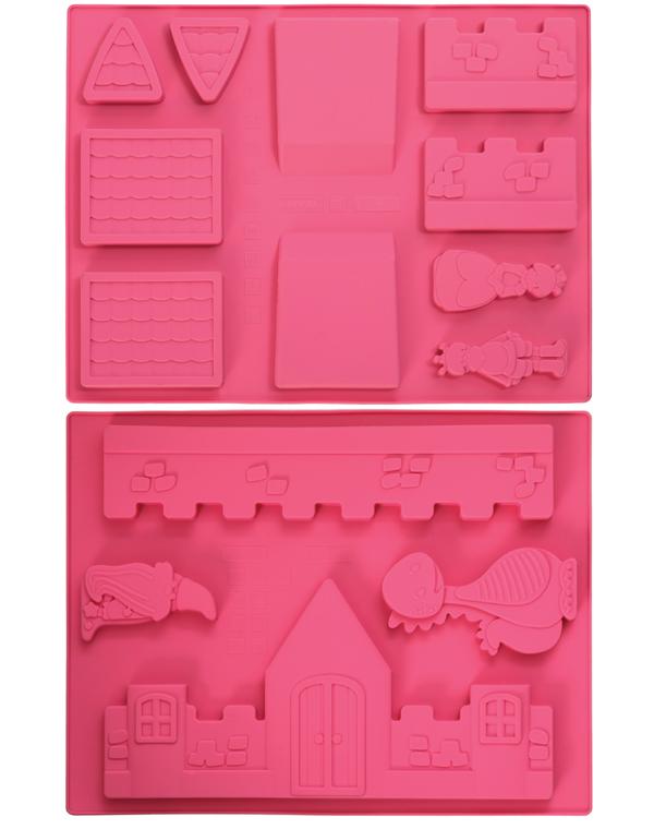 Φόρμα σιλικόνης MAΓΕΜΕΝΟ ΚΑΣΤΡΟ 3D - OEM - RS_56513.98.180 κουζινα είδη ζαχαροπλαστικής