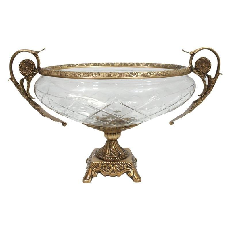 Διακοσμητικό Μπωλ Μεταλλικό-Γυάλινο Χρυσό-Διάφανο inart 38x20x24εκ. 3-70-124-0036 (Υλικό: Μεταλλικό, Χρώμα: Χρυσό ) – inart – 3-70-124-0036