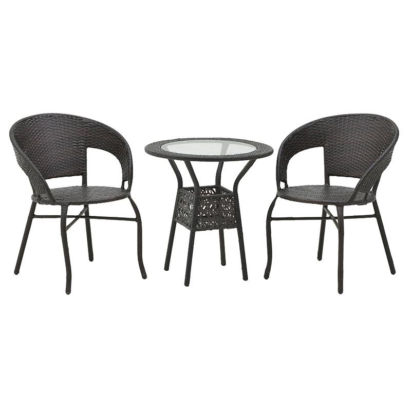 Σετ Τραπέζι Με Καρέκλες Μεταλλικό-Πλαστικό CLICK 6-50-715-0002 (Υλικό: Μεταλλικό, Χρώμα: Καφέ) – CLICK – 6-50-715-0002