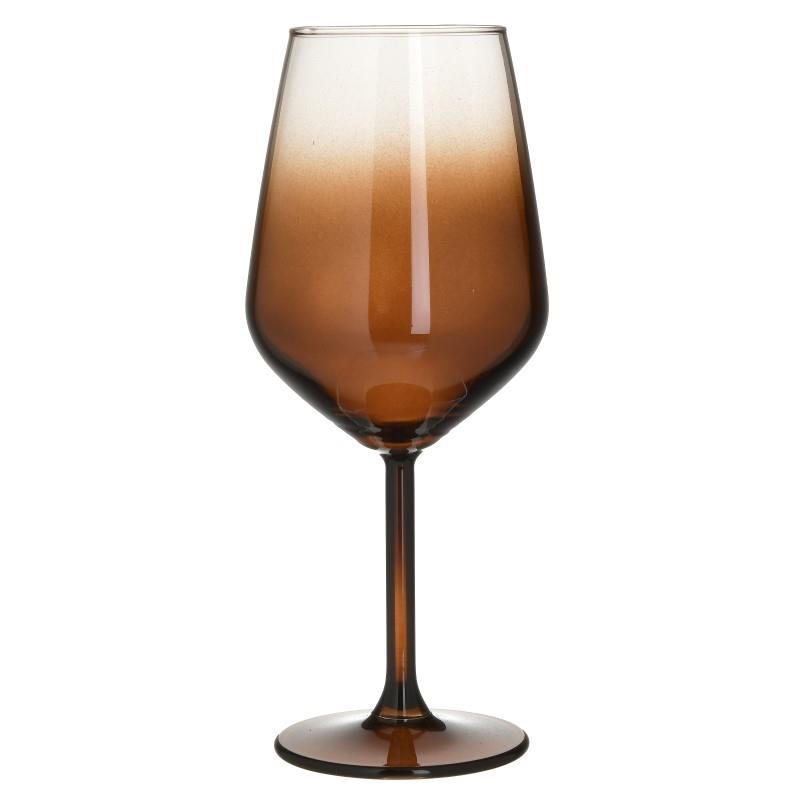 Σετ Ποτήρι Κρασιού 6τμχ Γυάλινο CLICK 490ml. 6-60-961-0052 (Υλικό: Γυαλί, Χρώμα: Μελί) – CLICK – 6-60-961-0052