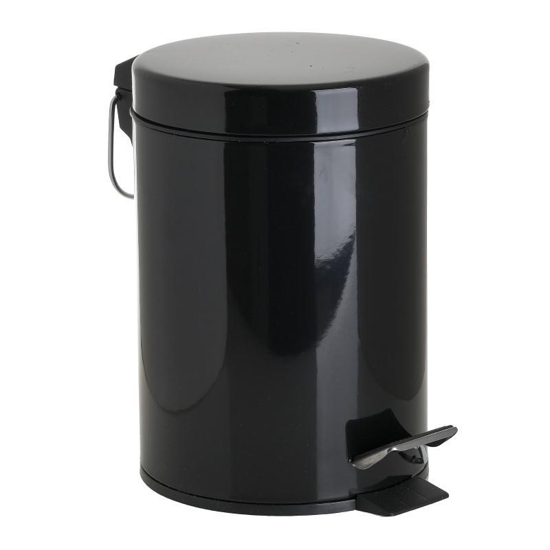 Καλάθι Απορριμμάτων Μεταλλικό 3Ltr CLICK 17×25εκ. 6-65-508-0028 (Υλικό: Μεταλλικό, Χρώμα: Μαύρο) – CLICK – 6-65-508-0028