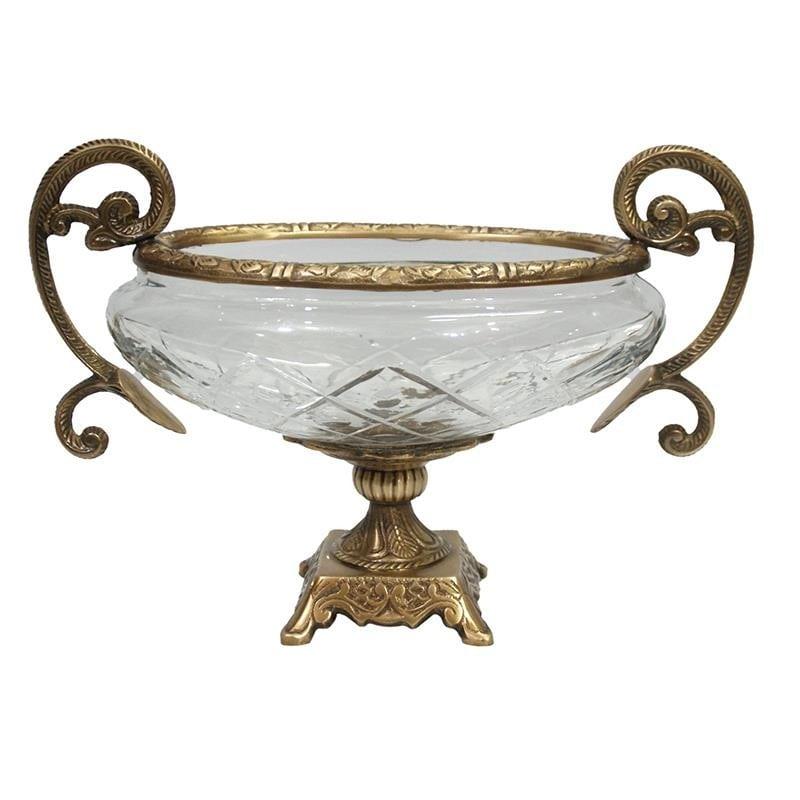Διακοσμητικό Μπωλ Μεταλλικό-Γυάλινο Χρυσό-Διάφανο inart 31x15x21εκ. 3-70-124-0043 (Υλικό: Μεταλλικό, Χρώμα: Χρυσό ) – inart – 3-70-124-0043