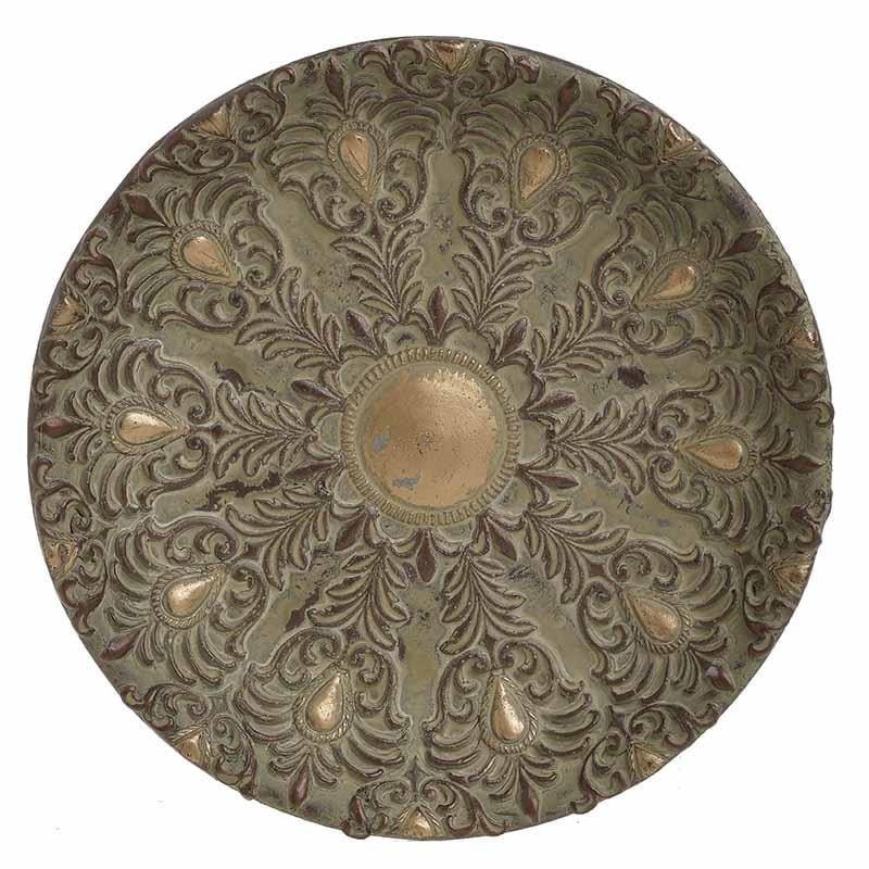 Διακοσμητική Πιατέλα Αντικέ-Τσιμεντένια inart 29×4εκ. 3-70-259-0035 (Υλικό: Τσιμέντο, Χρώμα: Αντικέ) – inart – 3-70-259-0035