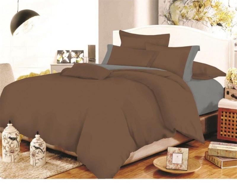 Σετ Σεντόνια Polycotton Υπέρδιπλα 220×240εκ. Με Φάσα Brown-Grey 24home (Ύφασμα: 50%Cotton-50%Polyester, Χρώμα: Γκρι) – 24home.gr – 24-fasa-brown-grey-sent